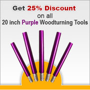 2Sand.com is offering 25% Discount on all 20 inch Purple Woodturning T